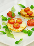 Baked ricotta with tomatoes Stock Photography