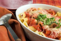 Baked rigatoni casserole Royalty Free Stock Photos