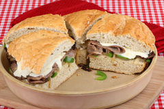 Baked Roast Beef Sandwiches Royalty Free Stock Images