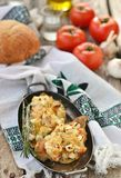 Baked rockfish with feta cheese Royalty Free Stock Photo