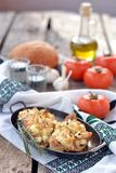 Baked rockfish with feta cheese Stock Photography