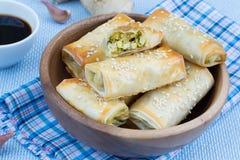 Baked rolls Stock Photos