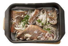 Baked rosefish Stock Photography