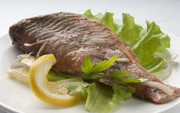 Baked rosefish Royalty Free Stock Photography