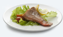 Baked rosefish Royalty Free Stock Images