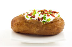 Baked russet potato Stock Photo