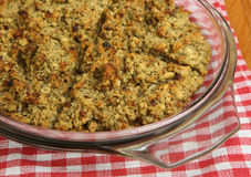 Baked Sage & Onion Stuffing Stock Photos
