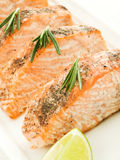 Baked salmon Stock Images