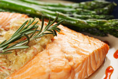 Baked salmon Royalty Free Stock Photography