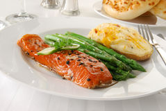 Baked salmon Royalty Free Stock Image