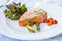 Baked salmon Royalty Free Stock Photo