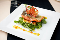 Baked salmon Stock Photography