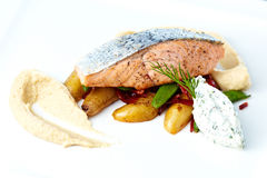 Baked salmon Stock Image