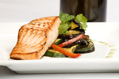 Baked salmon dish Stock Images