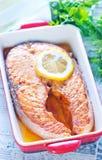 Baked salmon Royalty Free Stock Image