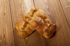 Baked salmon pie Stock Image