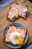 Baked Salmon sandwiches Royalty Free Stock Image