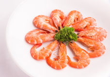 Baked Salted Prawns  Royalty Free Stock Photos
