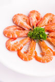 Baked Salted Prawns  Stock Photo