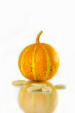 Baked and Salted Pumpkin Seeds on a background Royalty Free Stock Image