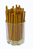Baked salty sticks Stock Images