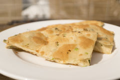 Baked Scallion Pancake. The Chinese food Royalty Free Stock Photography