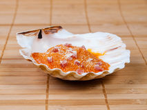 Baked scallop detail Stock Photos