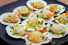 Baked scallops with butter Stock Photography