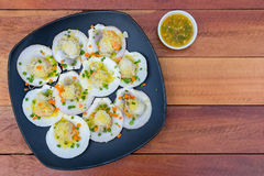 Baked scallops with butter Royalty Free Stock Photo