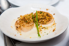 Baked Scallops Royalty Free Stock Photography