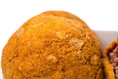 Baked scotch eggs. Royalty Free Stock Image
