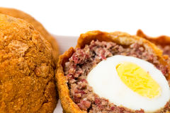 Baked scotch eggs. Royalty Free Stock Photography