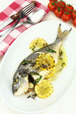 Baked sea bream Stock Photo