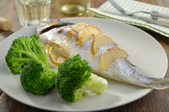 Baked sea bream Stock Photography