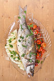 Baked Seabas Fish Royalty Free Stock Images