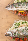 Baked Seabass Fish Stock Photography