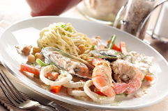 Baked seafood Stock Photography