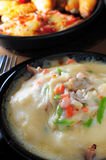 Baked seafood meat rice Stock Photos