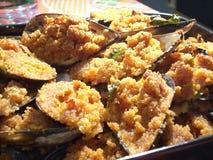 Baked shellfish Stock Image