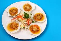 Baked shellfish Royalty Free Stock Image