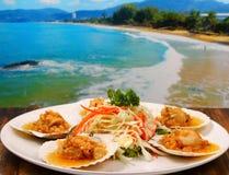 Baked shellfish Stock Photography