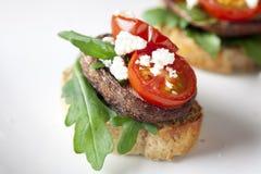 Baked Shitake Mushroom Tapas Royalty Free Stock Photography