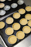 Baked shortcrust pastry for small tart in cake form stock photo