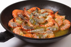 Baked shrimp Stock Photography