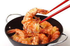 Baked shrimp Stock Images