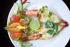 Baked shrimp Royalty Free Stock Photos
