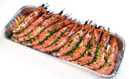 Baked shrimp Stock Images