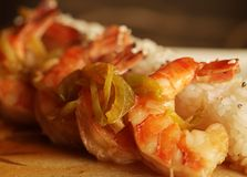 Baked shrimp with rice Royalty Free Stock Photography