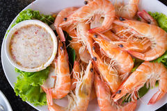 Baked shrimp Royalty Free Stock Image