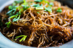 Baked Shrimp Vermicelli Royalty Free Stock Photography